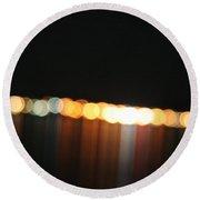 Dripping Light Round Beach Towel