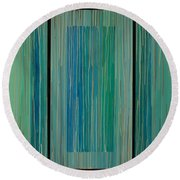 Drippings Triptych Round Beach Towel