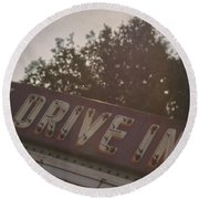 Drive In II Round Beach Towel