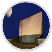 Drive-in Moon Round Beach Towel