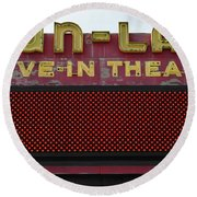 Drive Inn Theatre Round Beach Towel