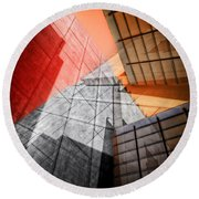 Driven To Abstraction Round Beach Towel