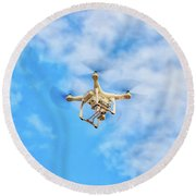 Drone On The Air Round Beach Towel