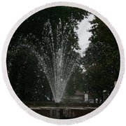 Drops Of Fountain Round Beach Towel