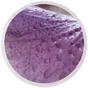 Drops Of Pink Round Beach Towel