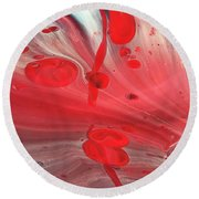 Drops Of Red Round Beach Towel