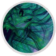 Drowning Round Beach Towel