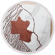 Drowsy - Tile Round Beach Towel