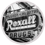 Drug Store #2 Round Beach Towel