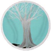Druid Tree - Original Round Beach Towel