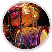 Drum Set Round Beach Towel