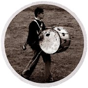 Drummer Boy Round Beach Towel