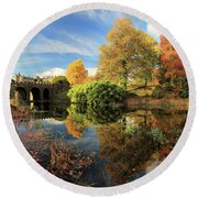 Drummond Garden Reflections Round Beach Towel