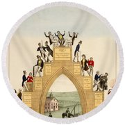 Drunkards Progress, 1846 Round Beach Towel