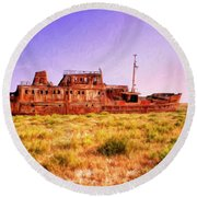 Dry Dock Round Beach Towel
