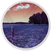 Dry Lake Infrared Round Beach Towel