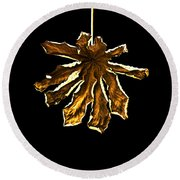 Dry Leaf Collection 4 Round Beach Towel