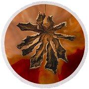 Dry Leaf Collection Digital 1 Round Beach Towel