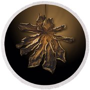 Dry Leaf Collection Digital  Round Beach Towel
