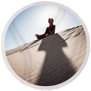 Dry Meditation Round Beach Towel