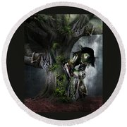 Dryad's Dance Round Beach Towel