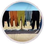 Drying Wet Suits Round Beach Towel