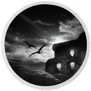 Dryslwyn Castle 3b Round Beach Towel
