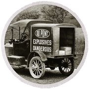 Du Pont Co. Explosives Truck Pennsylvania Coal Fields 1916 Round Beach Towel