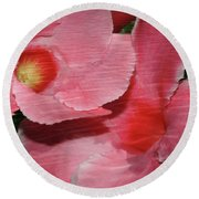 Dual Beauty In Pink Round Beach Towel