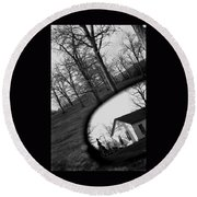 Duality - A Black And White Photograph Symbolically Representing The Gravity Of Choice  Round Beach Towel