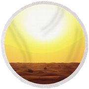 Dubai, United Arab Emirates Round Beach Towel