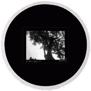 Dubignon Tree Round Beach Towel