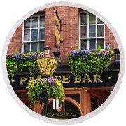Dublin Ireland - Palace Bar Round Beach Towel