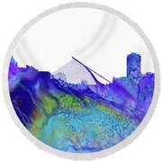 Dublin Skyline Round Beach Towel