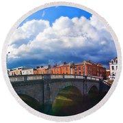Dublin's Fairytales Around Grattan Bridge V2 Round Beach Towel