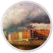 Dublin's Fairytales Around  River Liffey 2 Round Beach Towel