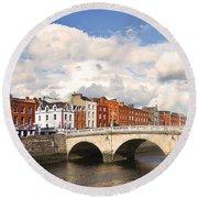Dublin's Fairytales Around  River Liffey 3 Round Beach Towel