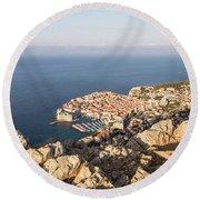 Dubrovnik And The Adriatic Coast In Croatia Round Beach Towel