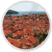 Dubrovnik Old Town Round Beach Towel