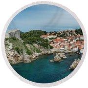 Dubrovnik Panorama Round Beach Towel