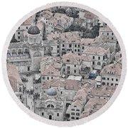 Dubrovnik Rooftops #2 Round Beach Towel