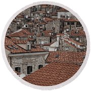Dubrovnik Rooftops #3 Round Beach Towel