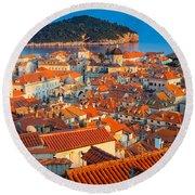 Dubrovnik Rooftops Round Beach Towel