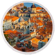 Dubrovnik Sunset Round Beach Towel