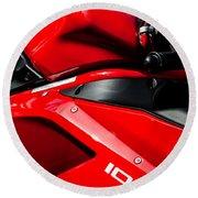 Ducati 1098 Motorcycle -0893c Round Beach Towel