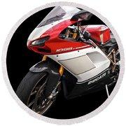 Ducati 1098s Motorcycle Round Beach Towel