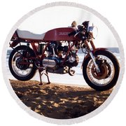 Ducati Round Beach Towel