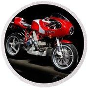 Ducati Mhe Mike Hailwood Evoluzione Round Beach Towel