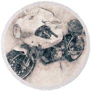 Ducati Paulsmart 1000 Le - 2006 - Motorcycle Poster - Automotive Art Round Beach Towel