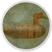 Duck Decoy Number Three Round Beach Towel